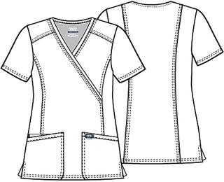 WW610 Mock Wrap Top-Cherokee Workwear