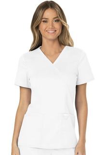 WW610 Mock Wrap Top-Cherokee Workwear