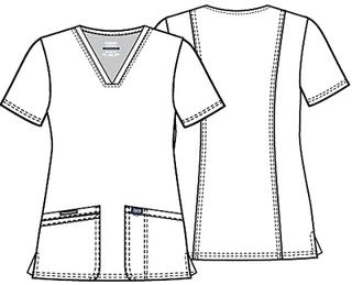 WW620 V-Neck Top-Cherokee Workwear