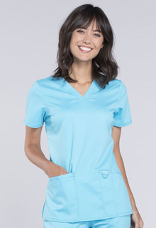 Revolution Modern Fit Ladies V-Neck Scrub Top - Workwear WW620-Cherokee Workwear