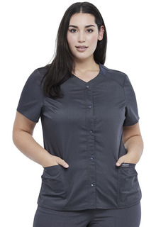 Revolution NEW Snap Front Scrub Top-Cherokee Workwear