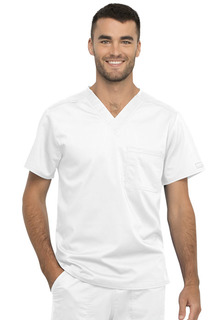 Unisex 1 Pocket V-Neck Top-