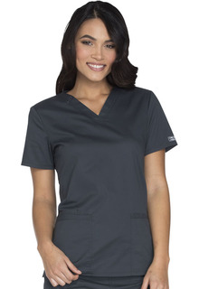 Core Stretch V-Neck Top-Cherokee Workwear