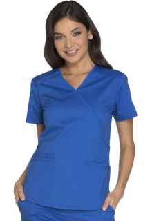 Core Stretch 3 Pocket Mock Wrap Scrub Top - Workwear WW640