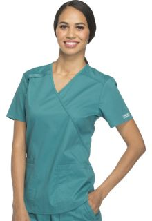 Cherokee Workwear Core Stretch Mock Wrap Scrub Top-Cherokee Workwear