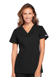 WW645 V-Neck Top-Cherokee Workwear