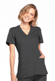 Original Mock Wrap Top-Cherokee Workwear