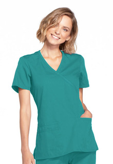 Cherokee Workwear WW Medical WW650 Mock Wrap Top-Cherokee Workwear