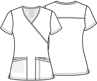 WW655 Mock Wrap Top-Cherokee Workwear