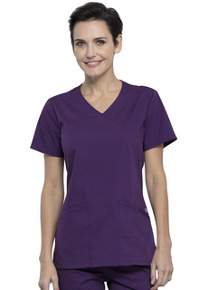 Mock Wrap Top-Cherokee Workwear