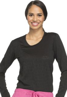 Cherokee Workwear Core Stretch Long Sleeve Underscrub Knit Tee Scrub Top-