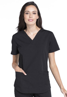 Cherokee Workwear Professionals V-Neck Scrub Top-Cherokee Workwear