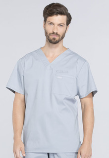 Cherokee Workwear Medical WW Professionals Mens WW675 Mens V-Neck Top-Cherokee Workwear