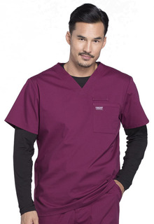 Pro Men's V-Neck Top-Cherokee Workwear