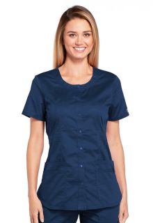 Core Modern 4 Pocket Round Neck Scrub Top - Workwear WW683