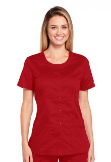 WW683 Round Neck Top-Cherokee Workwear