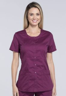 Core Stretch Round Neck Women's Top by Cherokee