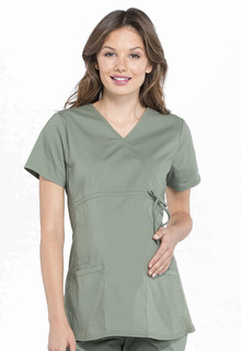 Pro Maternity Mock Wrap Top-Cherokee Workwear