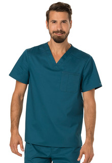 Revolution Men's Modern V-Neck Top-Cherokee Workwear
