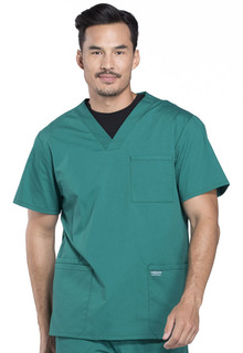"Pro Men's Scrub Top - Up to 32"" Tall Length-Cherokee Workwear"