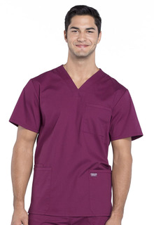 Pro Men's V-Neck Scrub Top in Regular and Tall Sizes-Cherokee Workwear