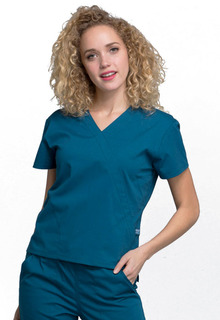 WW705 Mock Wrap Top-Cherokee Workwear