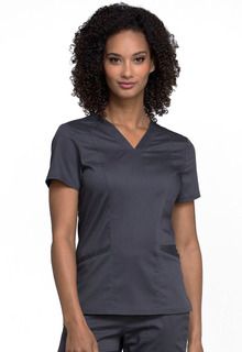 WW710 V-Neck Top-Cherokee Workwear