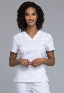 Revolution Ladies Princess V-Neck Top - Workwear WW710-Cherokee Workwear