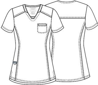 WW735 V-Neck Top-Cherokee Workwear
