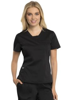Revolution Ladies Stretch V Neck Scrub Top - WW735-Cherokee Workwear