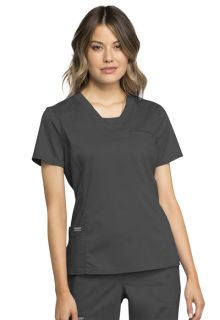 Cherokee Workwear Tops: Medical WW735 V-Neck Top-Cherokee Workwear