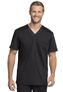 Cherokee Workwear Mens V-Neck Scrub Top-Cherokee Workwear
