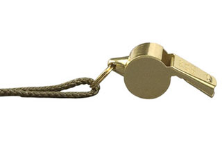 Brass GIStyle Police Whistle