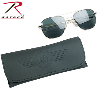 America Optical 55MM Polarized Pilot Sunglasses-Rothco