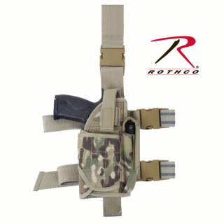 10751_Rothco Deluxe Adjustable Drop Leg Tactical Holster-Rothco