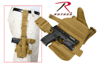Rothco Deluxe Adjustable Drop Leg Tactical Holster - Coyote