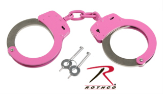 Rothco Pink Handcuffs With Belt Loop Pouch-