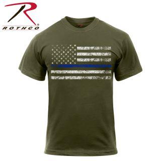 Rothco Thin Blue Line T-Shirt-Rothco