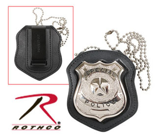 Rothco NYPD Style Leather Badge Holder w/ Clip-