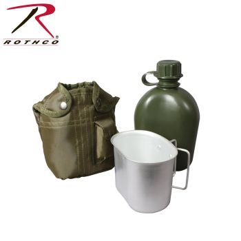 Rothco 3 Piece Canteen Kit With Cover & Aluminum Cup-Rothco