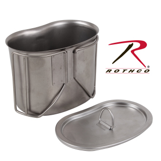 11512_Rothco Stainless Steel Canteen Cup Lid-Rothco