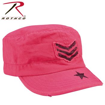 Rothco Womens Vintage Stripes & Stars Adjustable Fatigues Cap-