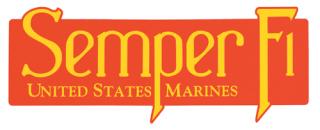 Rothco U.S.M.C. Semper Fi Bumper Sticker-