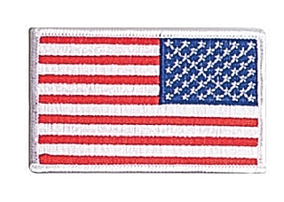 12777 Reversed U.S. Flag Patch