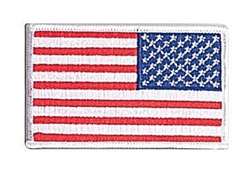 Rothco Iron On / Sew On Embroidered US Flag Patch-