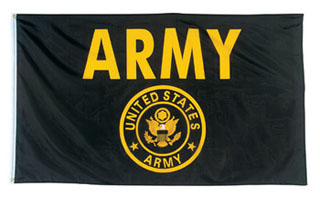 Rothco Black & Gold Army Flag-Rothco