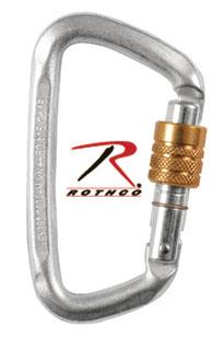 Hard Steel Modified D Key Screw Gate Carabiner-