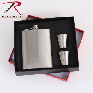 Rothco Stainless Steel Flask Gift Set-