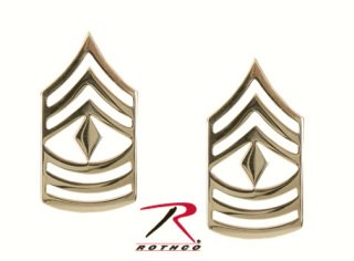 Rothco First Sergeant Polished Insignia-