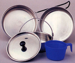 Rothco 5 Piece Stainless Steel Mess Kit-Rothco